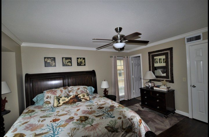 Master bedroom with luxurious mattress
