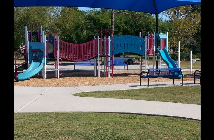 One of several playgrounds available in La Porte