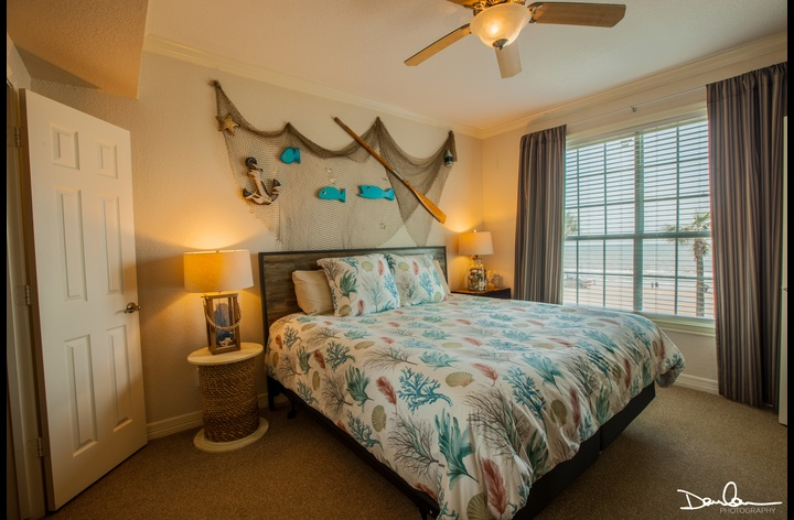 Master bedroom with King size bed; sleep in comfort!