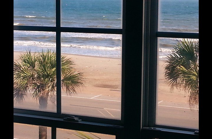 Beach and ocean view from bedroom